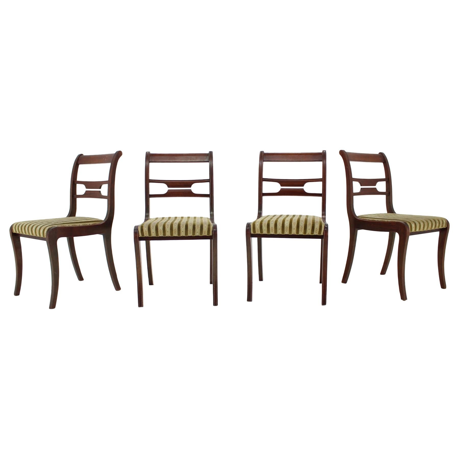 1940s Set of Four Art Deco Dining Chairs