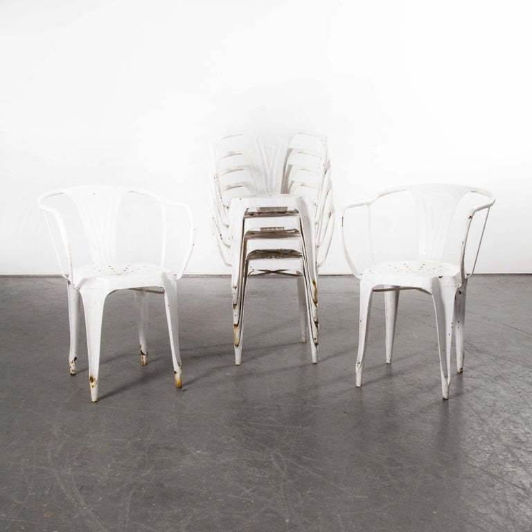 1940s Set of Six Original French Multiple's Armchairs In Good Condition For Sale In Hook, Hampshire