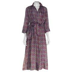 1940S Silk Printed  Robe