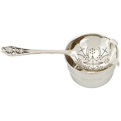 1940s Sterling Silver Tea Strainer