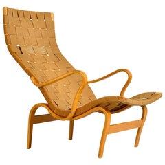1940s Swedish Midcentury Beech Bruno Mathsson Pernilla Lounge Chair Bentwood
