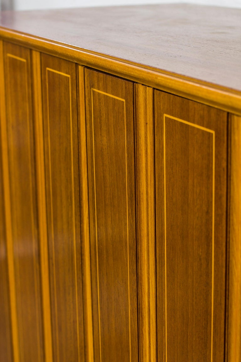 Mid-20th Century 1940s Swedish Modern Cabinet with Marquetry For Sale