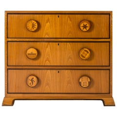 1940s Swedish Modern Chest of Drawers by Otto Schulz for Boet, Sweden
