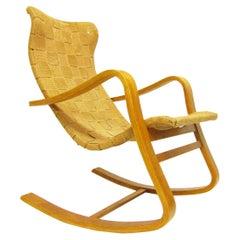 1940s Swedish Rocking Chair by Gustaf Axel Berg