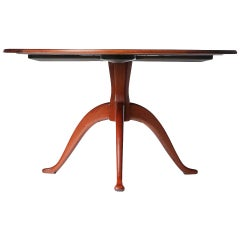 1940s Swedish Sculpted Cocktail or Center Table by Carl Malmsten