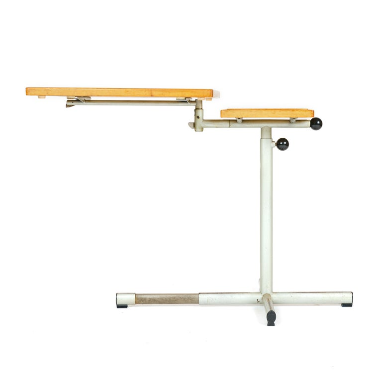 Bauhaus 1940s Swiss Utility Tray Table by Georg Albert Ulysse Caruelle for Embru For Sale