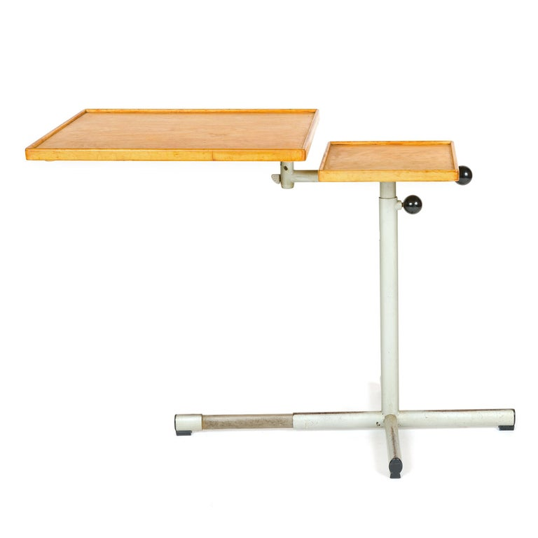 1940s Swiss Utility Tray Table by Georg Albert Ulysse Caruelle for Embru In Good Condition For Sale In Sagaponack, NY