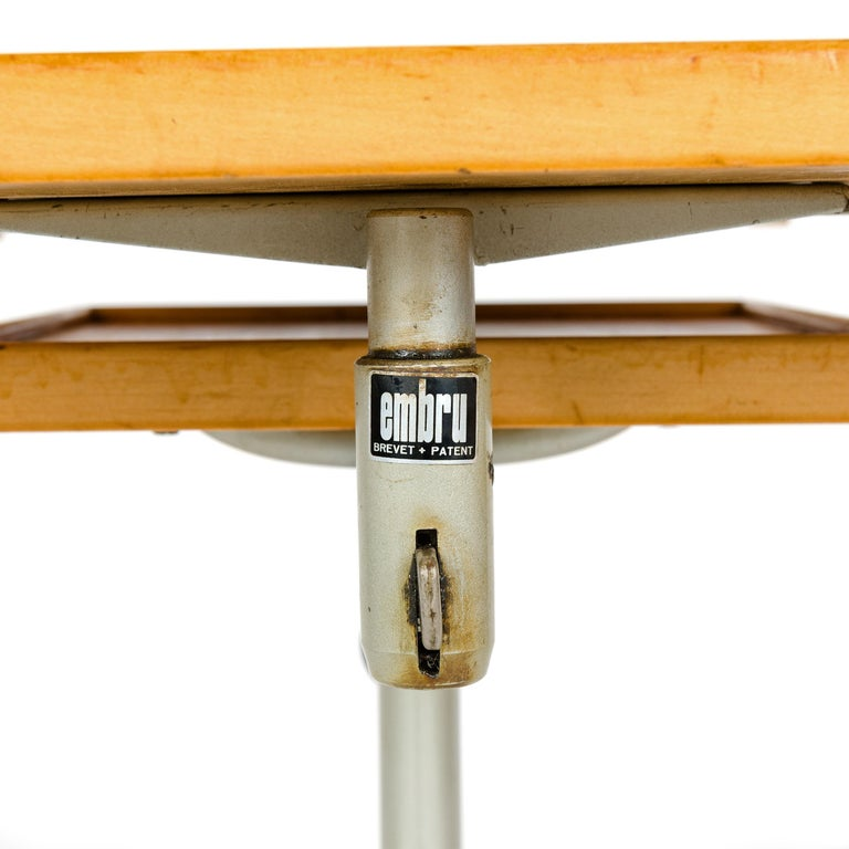 Mid-20th Century 1940s Swiss Utility Tray Table by Georg Albert Ulysse Caruelle for Embru For Sale