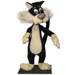 1940s Sylvester the Cat Mechanical Plush Toy Window Advertising