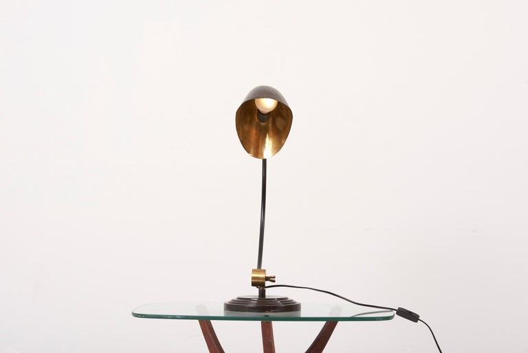 1940s Table Lamp in Metal and Brass For Sale 10