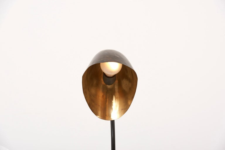 1940s Table Lamp in Metal and Brass For Sale 11