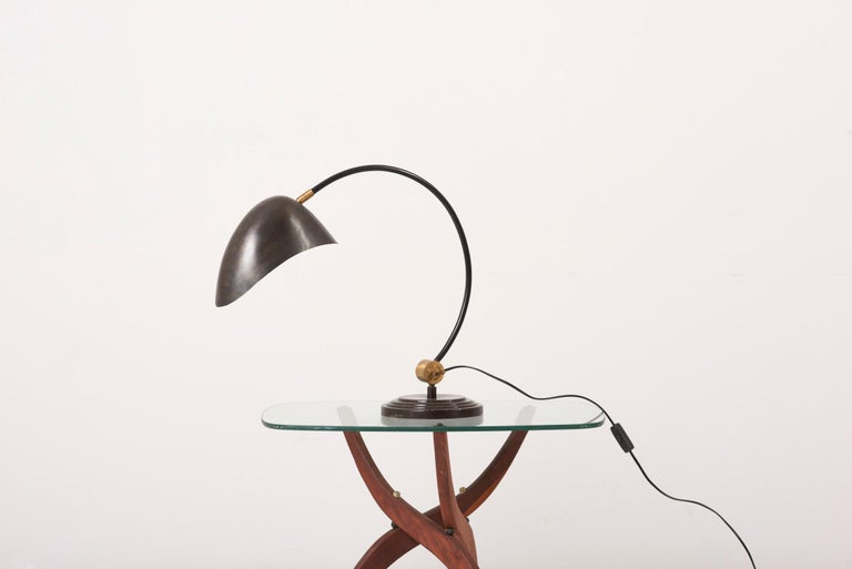 1940s Table Lamp in Metal and Brass In Fair Condition For Sale In Berlin, DE