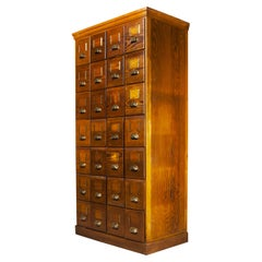 1940's Tall Chest of Drawers, Bank of Drawers, Twenty Eight Drawers