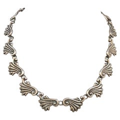 1940s Taxco Silver Linked Necklace