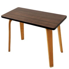 1940s Thonet Formica Woodgrain finish  Side Table on Bentwood legs, USA