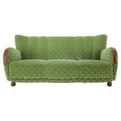 1940s Three Seater Art Deco Sofa, Denmark