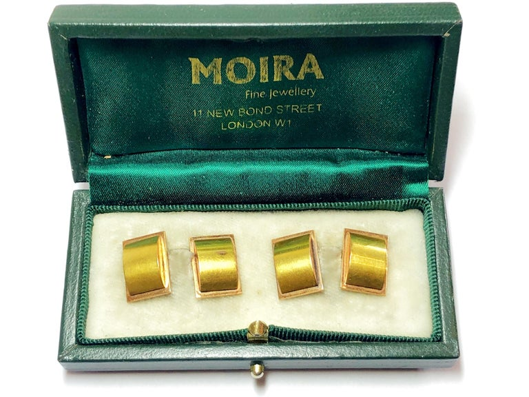 Men's 1940s Two Color Gold Cufflinks For Sale