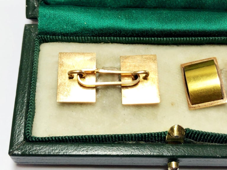 1940s Two Color Gold Cufflinks For Sale 1