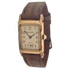 1940s Vintage 10 Karat Gold Filled Bulova Wristwatch