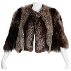 1940s Vintage Crystal Fox Fur Cape or Jacket