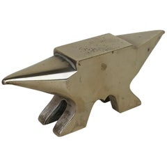 1940s Vintage Little Bronze Anvil Made in Italy