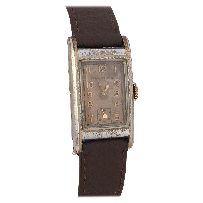 1940s Vintage Rectangular Invicta Mechanical Watch