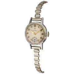 1940s Vintage Stainless Steel Ladies Cyma Mechanical Watch