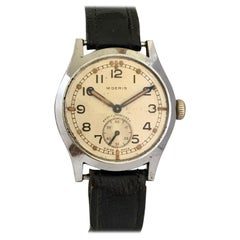 1940s Vintage Stainless Steel Manual Winding WW2 Military Watch ATP P3357