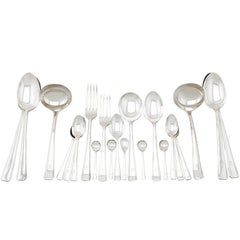 1940s Vintage Sterling Silver Canteen of Cutlery for 12 Persons