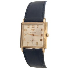 1940s Vintage Wittnauer 10 Karat Gold Filled with Stainless Steel Case Back