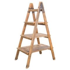 1940s Vintage Wooden Ladder Shelf