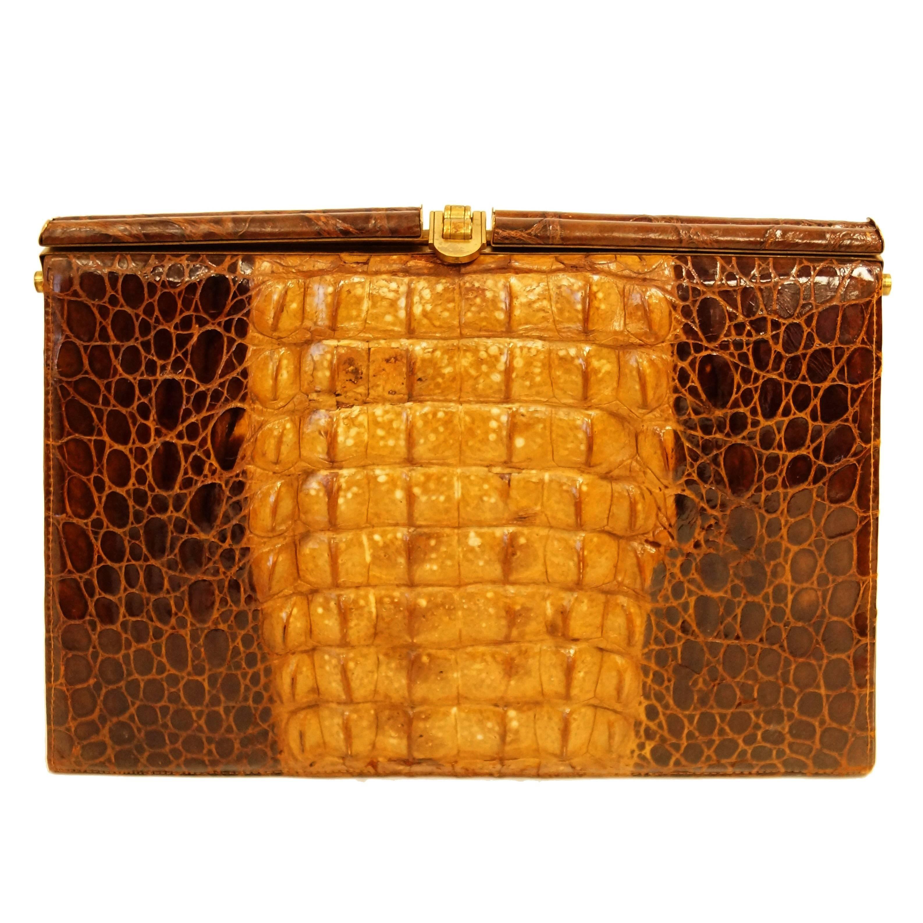 1stdibs Argentinian Alligator Clutch Handbag UA9Fixxr