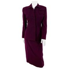 1940s Wine Gaberdine Suit