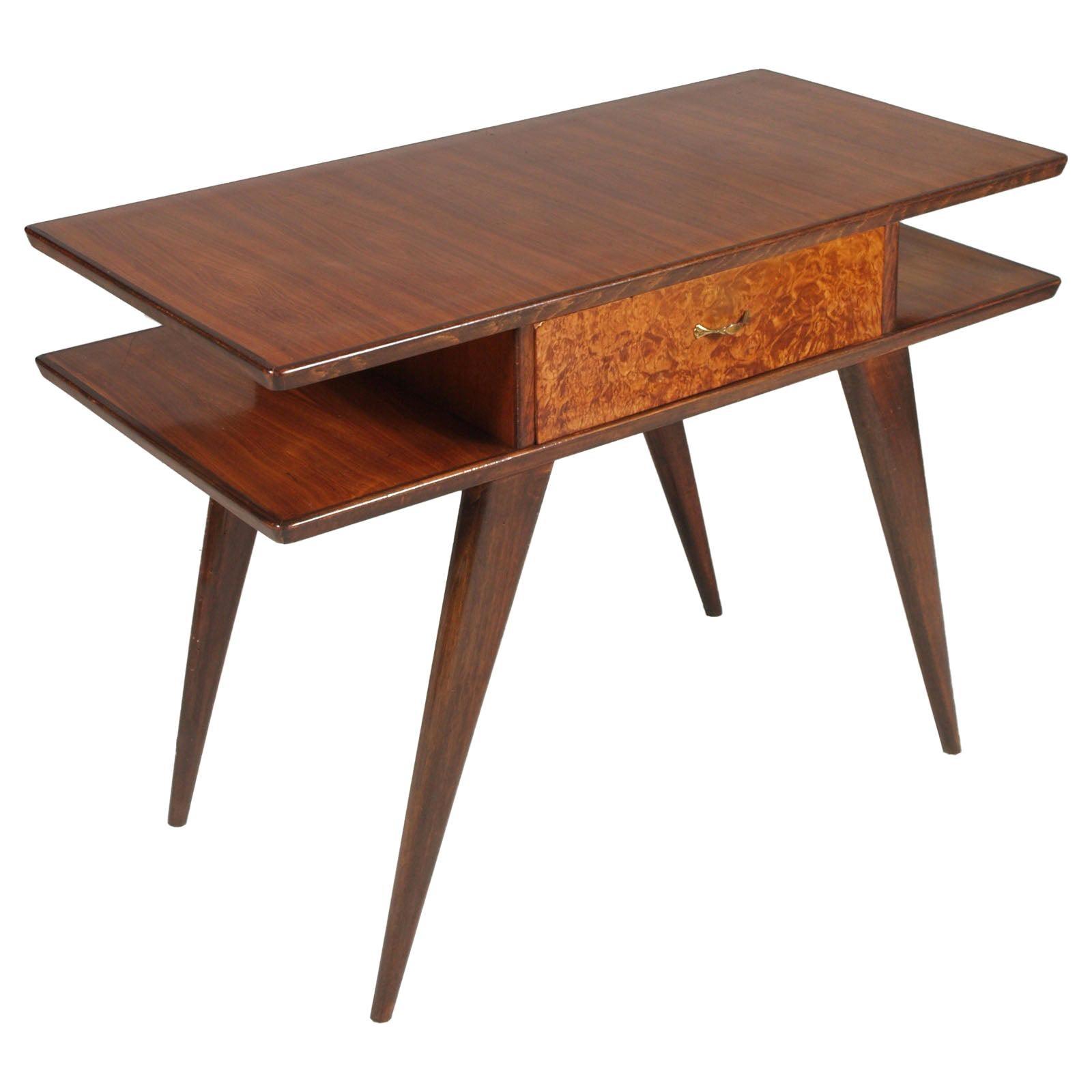 1940s Writing Desk by Ico Parisi for Brugnoli Mobili, Cantu, Wax-Polished