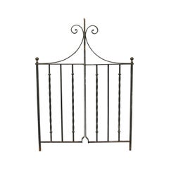 1940s Wrought Iron Double Garden Gate
