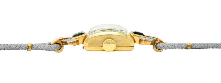 1941 Tiffany & Co. Green Tourmaline Diamond Platinum-Topped 14 Karat Gold Watch  7