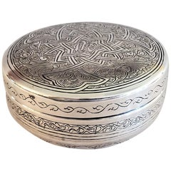 1943 Egyptian Silver Lidded Box