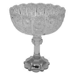 1945 Servebowl with Lead Crystal Cut Patterns