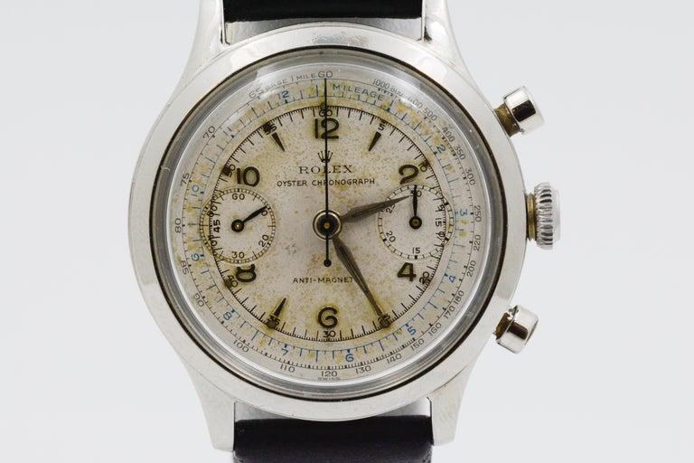 Retro 1945 Vintage Rolex Chronograph 3525 For Sale