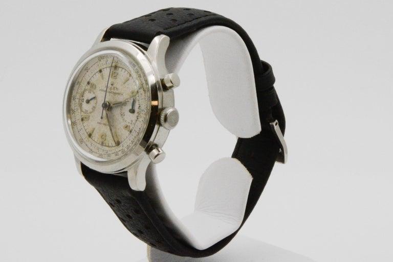 Women's or Men's 1945 Vintage Rolex Chronograph 3525 For Sale