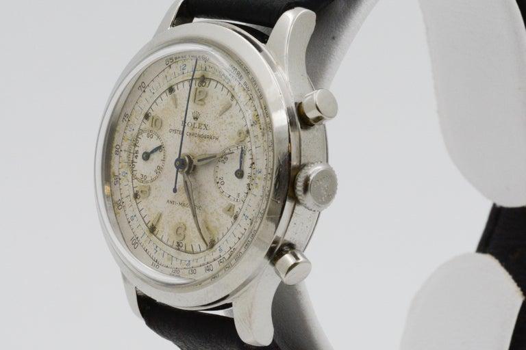 1945 Vintage Rolex Chronograph 3525 For Sale 1