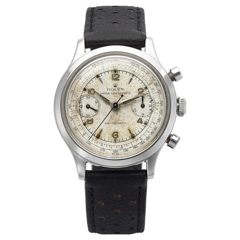 1945 Vintage Rolex Chronograph 3525 For Sale