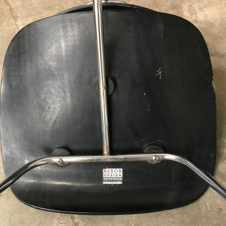 1946, Ray & Charles Eames for Herman Miller, DCM in Painted Black Version For Sale 8