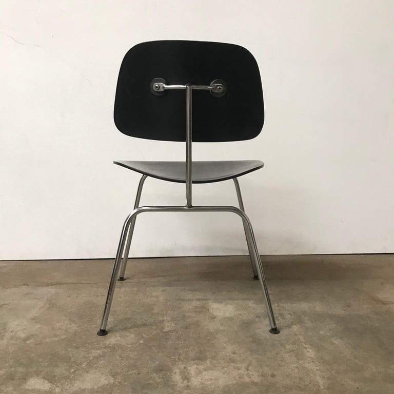 Metal 1946, Ray & Charles Eames for Herman Miller, DCM in Painted Black Version For Sale