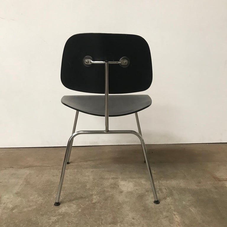 1946, Ray & Charles Eames for Herman Miller, DCM in Painted Black Version For Sale 1