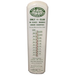 1947 AAA New Jersey Automotive Club Tin Thermometer Sign