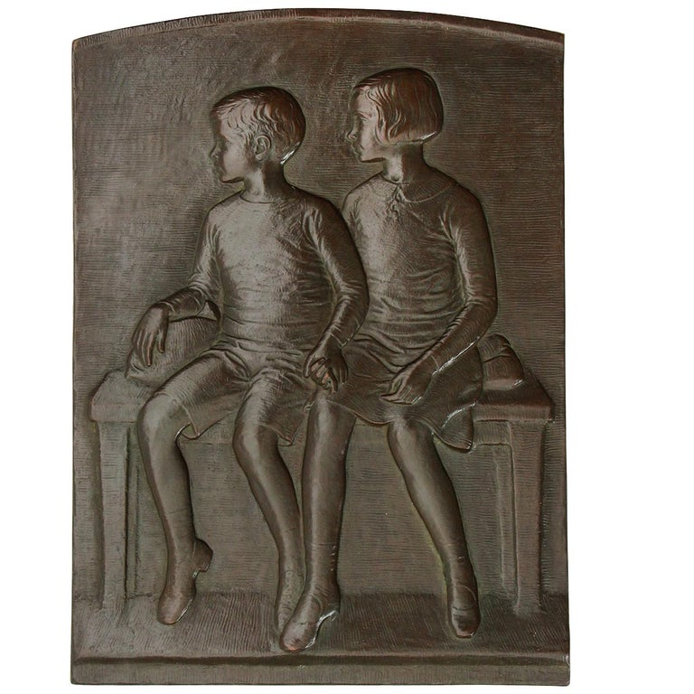 1947 Bronze Plaque by Warner Williams For Sale