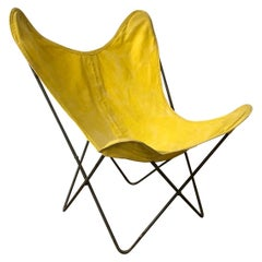 1947, Hardoy, Ferrari, Yellow Cover with Black Base Butterfly Chair