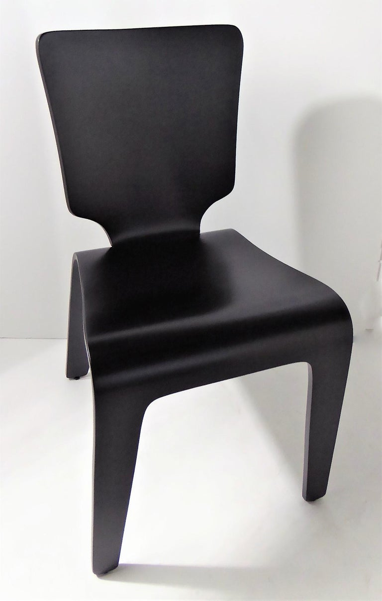 Mid-Century Modern 1947 Mid Century Black Lacquered Thaden-Jordan Side Chair For Sale