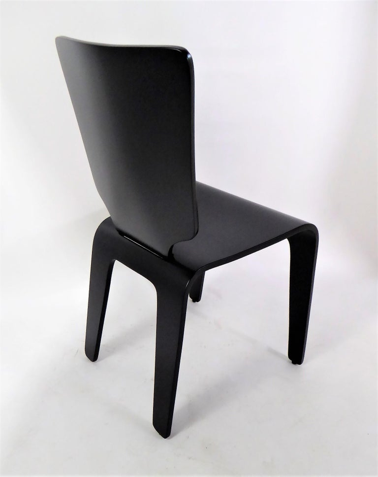 Mid-20th Century 1947 Mid Century Black Lacquered Thaden-Jordan Side Chair For Sale